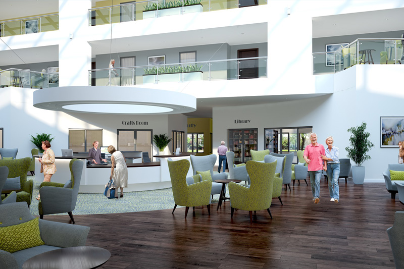 Optimum Combined Services at Stoke Gifford Retirement Village for client Galliford Try Partnerships