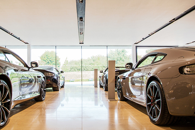 Optimum Combined Services Aston Martin Showroom Bristol for client Square One